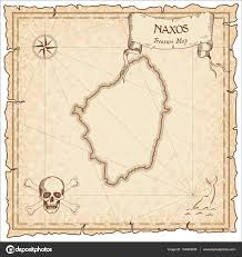 Old Treasure Map Naxos Old Pirate Map Sepia Engraved Parchment Template Of Treasure