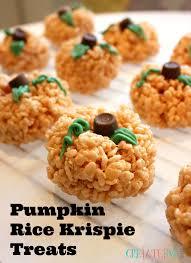 rice crispy treat pumpkins pumpkin rice krispie treats creative sides