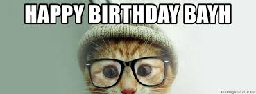 Hipster Cat Meme - happy birthday bayh hipster cat birthday meme generator