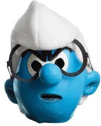 blue garden gnome costume mens smurf fancy dress new