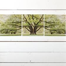 3 panel tree canvas wall antique farmhouse