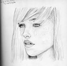 a sketch of a face how to draw realistic girls manga
