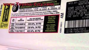 2011 toyota camry tire pressure how to by toyota