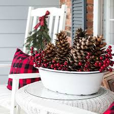 Frugal Home Decorating Ideas Festive U0026 Frugal Christmas Porch Decor On Sutton Place
