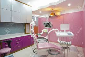 panoramic view of interior of dental office stock photo picture