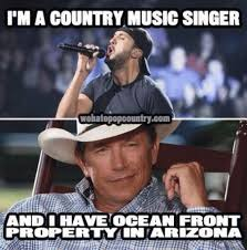 George Strait Meme - i m a country music singer and i have ocean front property in arizona