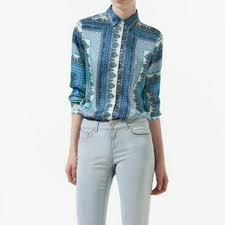 scarf blouse 78 zara tops zara scarf print blouse from qiwi s closet on