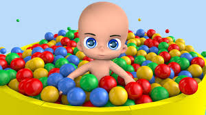 learn colors with baby and balls