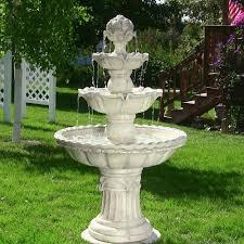 Home Decor Fountain 4 Tier White Fountain Electric Pump Outdoor Garden Yard Patio Home