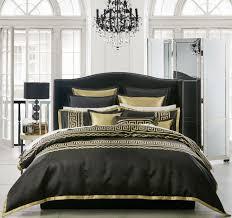 athena quilt cover set range black