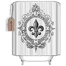 Fleur De Lis Bathroom Decor by Amazon Com Fleur De Lis Embroidered Shower Curtain Home U0026 Kitchen