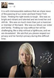 Sofa Kings Band by Kittie Bassist Trish Doan Dead At 31 Sofa King Cool Magazine