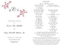 in memory of wedding program wedding ideas staggeringg party program ideasgprogram exles