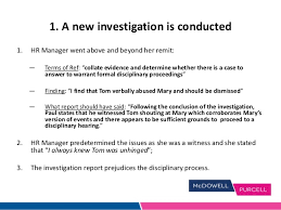 investigation report template disciplinary hearing investigations disciplinary procedures slides 02 04 14