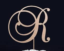 gold letter cake topper letter r cake topper etsy