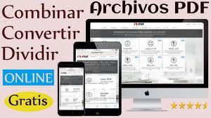 convertir imagenes jpg a pdf gratis app web unir dividir convertir pdf gratis sin registro youtube