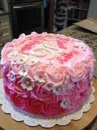 birthday cake decorations flower cakes for sweet 16 rosette ombre sweet 16 birthday cake