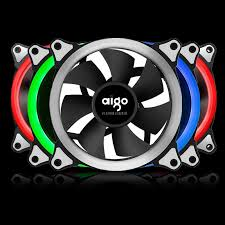 120mm rgb case fan aigo rgb case fan 120mm 6pin silent fan with led ring