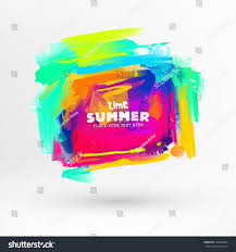 bright color paint stains summer design stock vector 276982694
