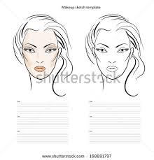 face makeup sketch stock images royalty free images u0026 vectors