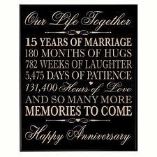 15 wedding anniversary 15th year wedding anniversary gift