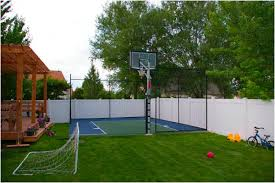 Backyard Basketball Hoops Basketball Court Installation Crafts Home