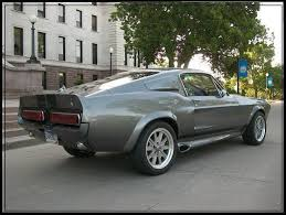 Silver Mustang With Black Stripes Eleanor Ford Mustang Gt500e Fastback Pepper Grey Metallic With