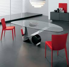 Oval Glass Dining Room Table Glass Dinner Table Choosing The Type Of Modern Glass Dining Table