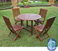 the acacia 5 piece stowaway patio furniture set features a clever