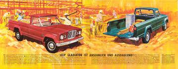 jeep gladiator 1967 1965 jeep gladiator brochure