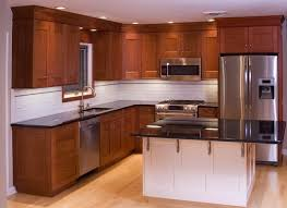 kitchen wall colors with cherry cabinets white metal double door