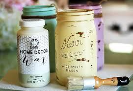 mason jar crafts how to chalk paint your mason jars diy joy