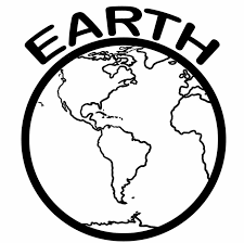 black and white earth with recycle symbol clip art black and