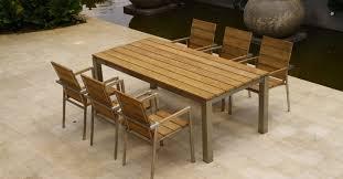 Rustic Outdoor Patio Furniture Furniture Teak Outdoor Patio Dining Set Agean Zaire Beautiful