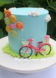 bicycle and balloons cake free cake tutorial my cake
