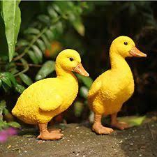 1 pair resin ducks figures garden outdoor statueyard poor