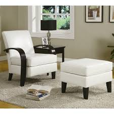 cheap chair with ottoman wonda white bonded leather accent arm chair with ottoman free