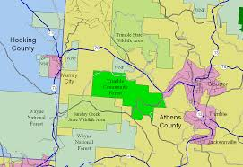 Athens Ohio Map by Trimble Township Community Forest Wikipedia