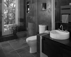 Bathroom Black And White Bathroom by Bathroom Black Tile White Hanging Wooden Box Two White Clay Pots