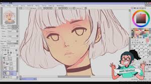 paint tool sai with pink hair youtube