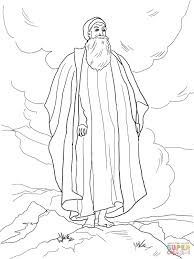 moses views the promised land coloring page free printable
