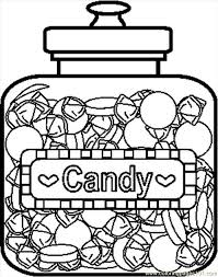 candyjar5bw coloring free candy coloring pages