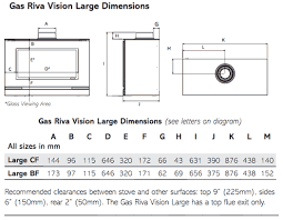 Gas Cooktop Dimensions Gazco Riva Vision Gas Stove Large Hotprice Co Uk