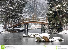 japanese garden in winter royalty free stock image image 12725946