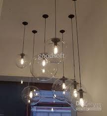 Wholesale Pendant Lighting Modern Minimalist Edison Bulbs Clear Light Ball Glass Pendant Lamp