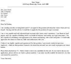 sample legal secretary cover letter
