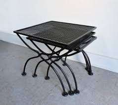 Antique Wrought Iron Patio Furniture For Sale by Salterini Mid Century Modern Wrought Iron Patio Nesting Tables For