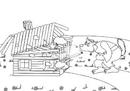 a wolf blow three little pigs house coloring pages batch coloring