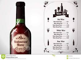 menu template on chalkboard for alcohol with stock vector