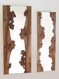 Wood Bathroom Mirror by Design Mirror River Mirrors By Caryn Moberly Live Edge Wood